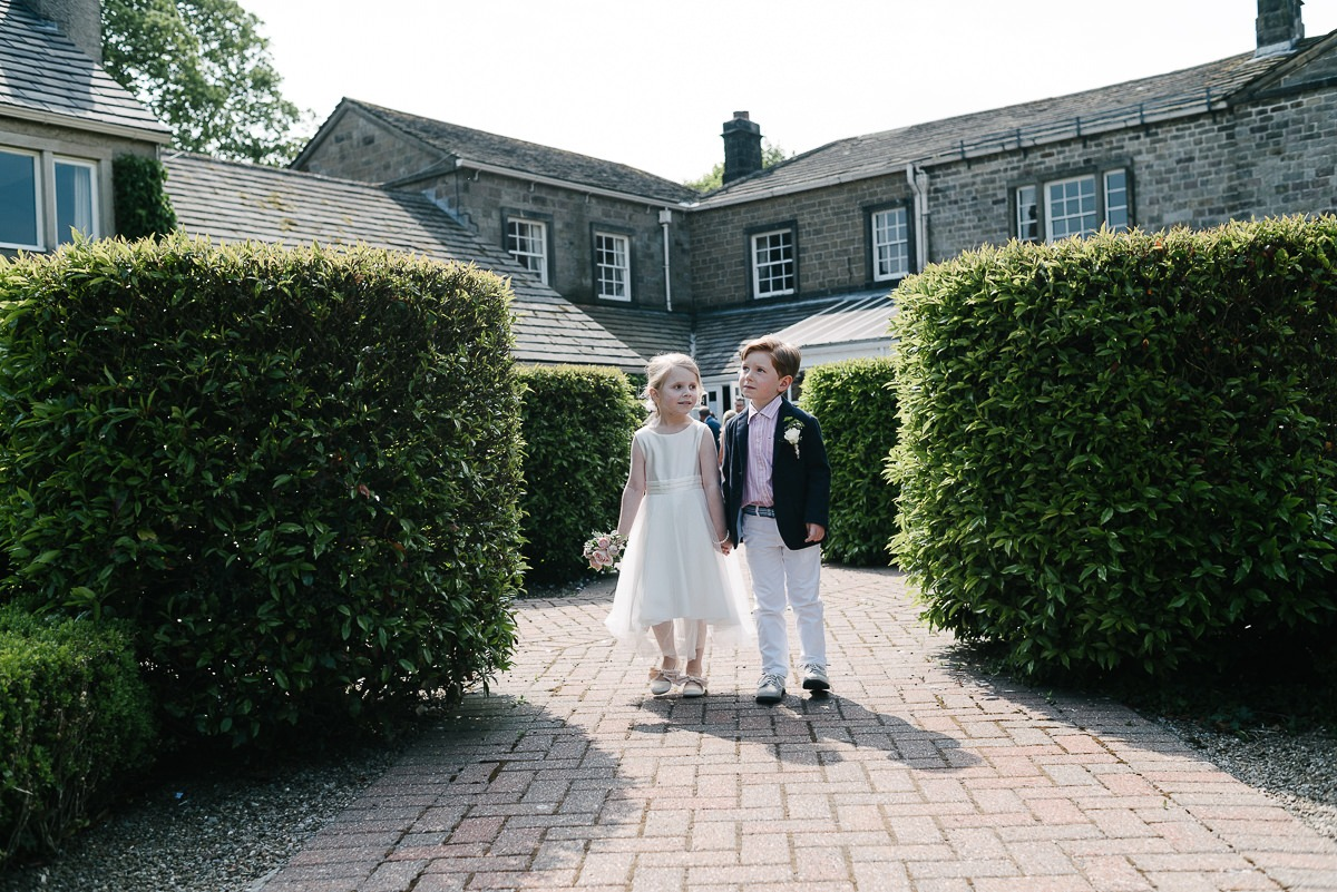 Devonshire Arms Wedding Burnsall Leeds young guests