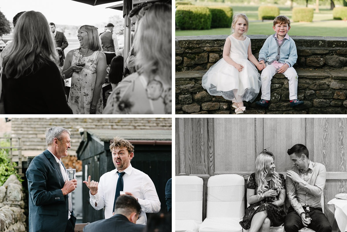 Devonshire Arms Wedding Burnsall Leeds the guests
