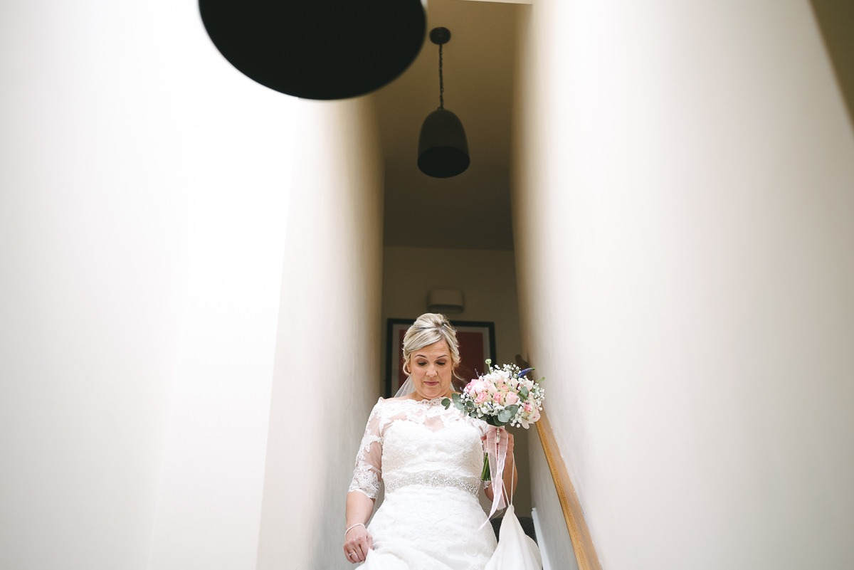 bride on stairs bottom